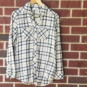 ABound womens button down plaid shirt